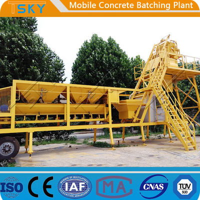 AC 380V 50HZ HZS25 25m³/h Mobile Concrete Batching Plant