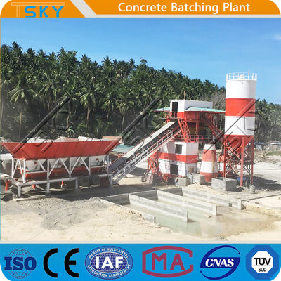 Belt Conveyor Feeding 50HZ Stationary Batching Plant