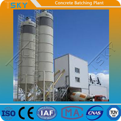 Belt Conveyor Feeding HZS180 Concrete Batching Equipment