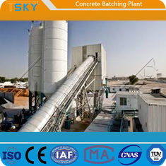 Dust Collecting HZS240 Concrete Batching Mixing Plant
