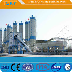 BP3000B Belt Conveyor Feeding 60m³/h Precast Batch Plant