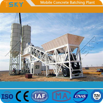 ISO HZS100 100m³/H Portable Concrete Batch Plant