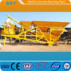 Skip Hoist Feeding HZS50 Mobile Concrete Batching Plant