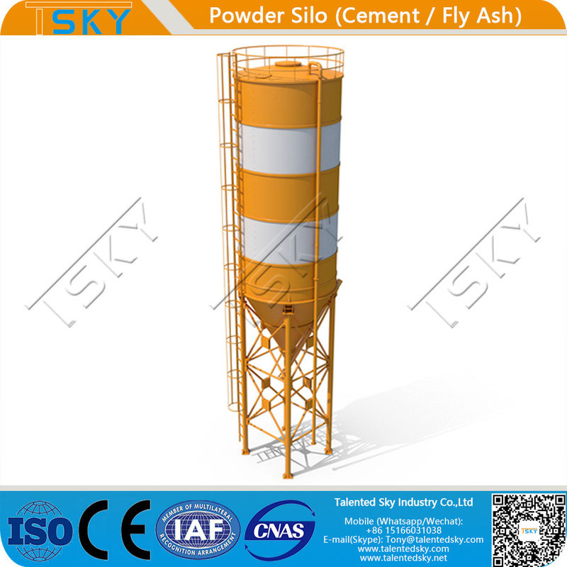 ISO Industrial Cement Lime Fly Ash 500T Powder Silo