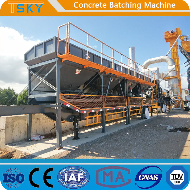 6400mmx1600mmx3000mm 800L/H Batching Plant Machine