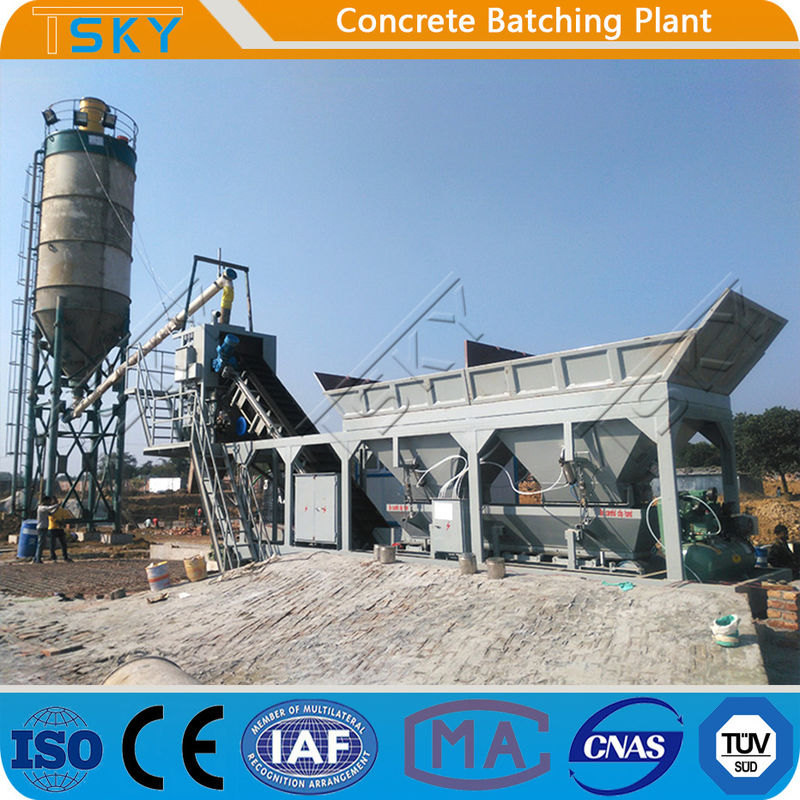 Skip Hopper Module 18.5KW HZS25 Tower Batching Plant