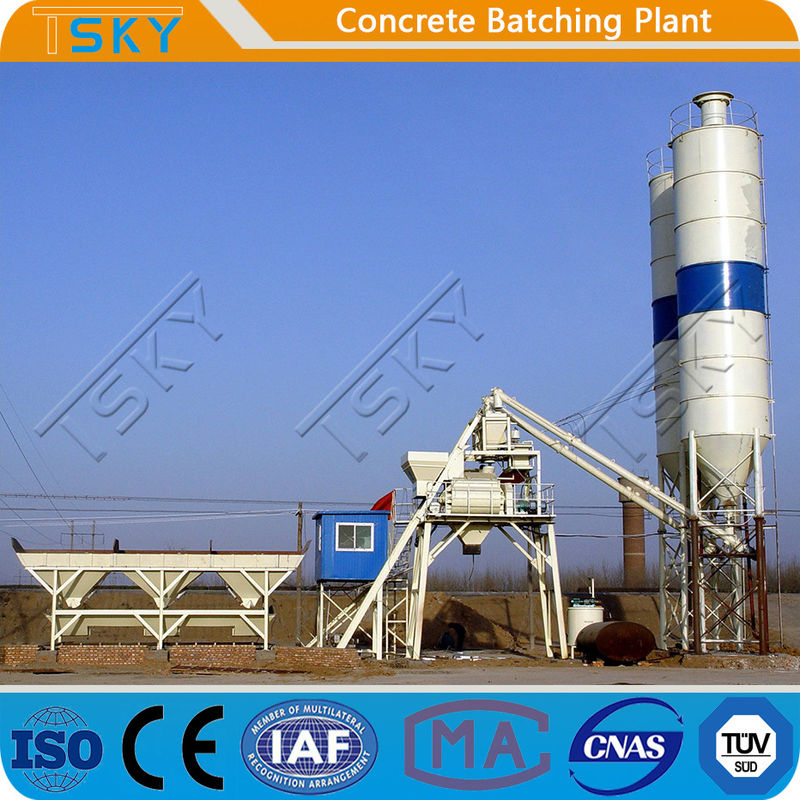 Bucket Feeding HZS60 60m3/h Concrete Batching Plant