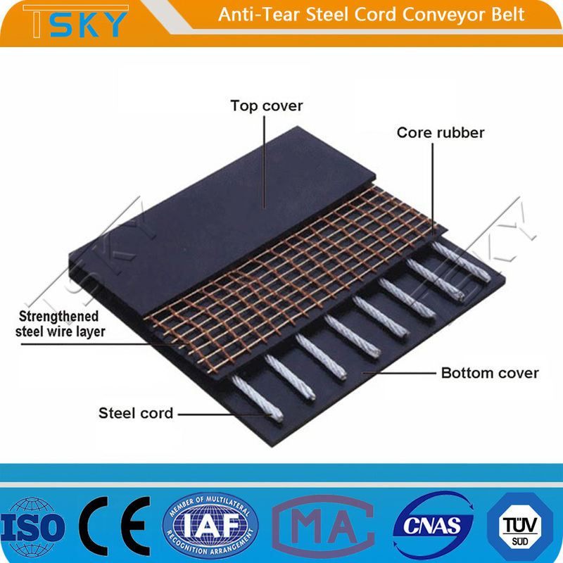 Anti-Tear Steel Cord Conveyor Belt Tear Resistant Conveyor Belt