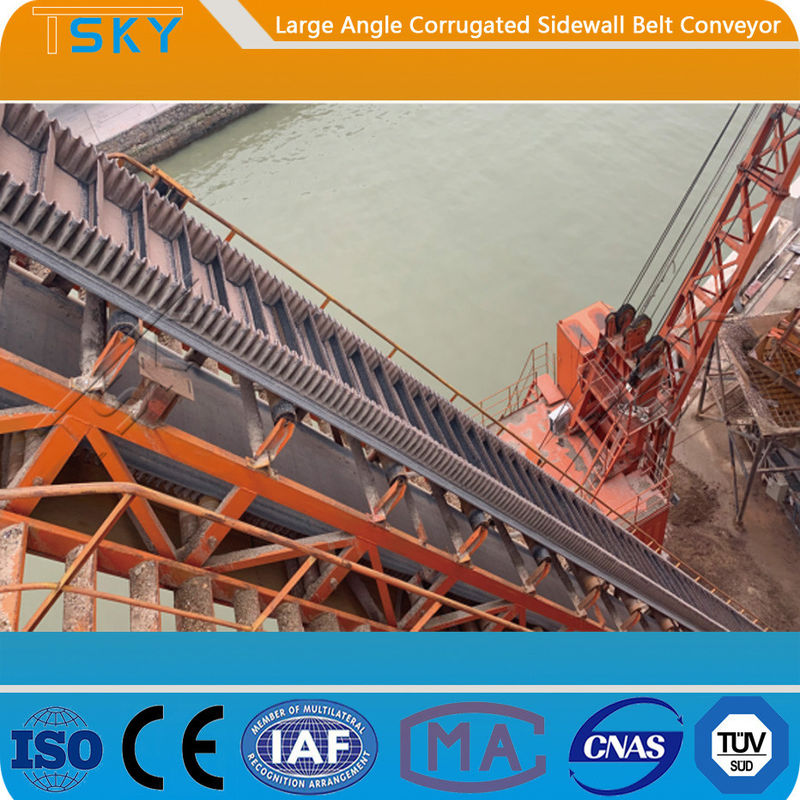 B300 80mm Sidewall 2.0m/s Rubber Belt Conveyor
