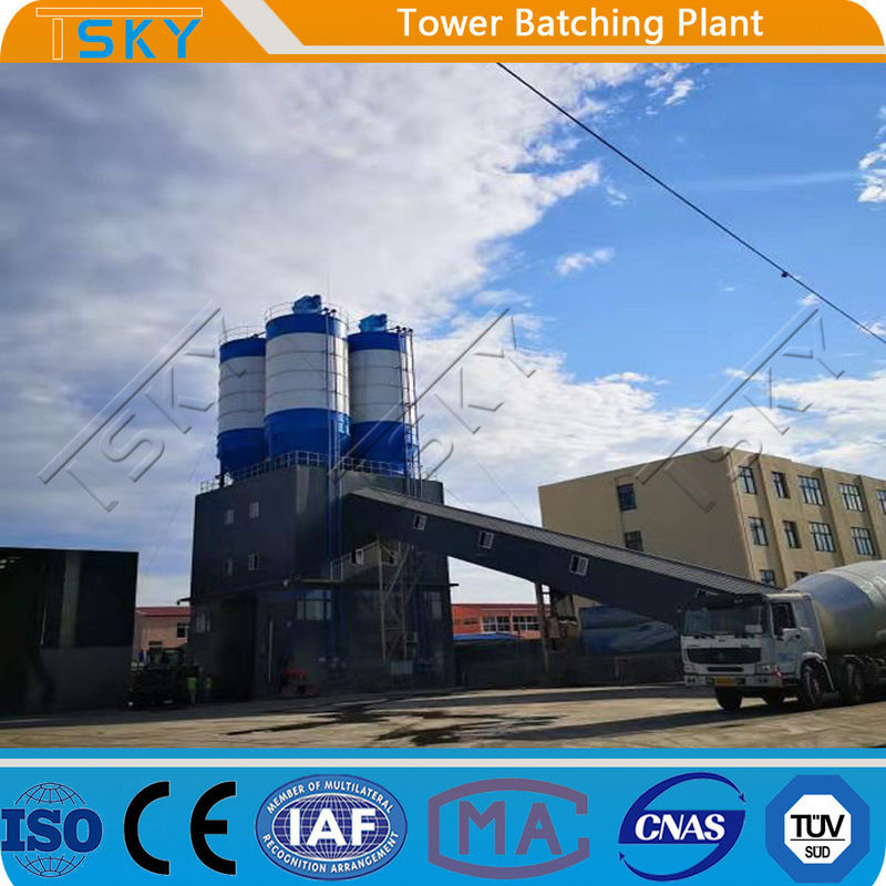 37KW Environmental Friendly HL60 Tower Batching Plant