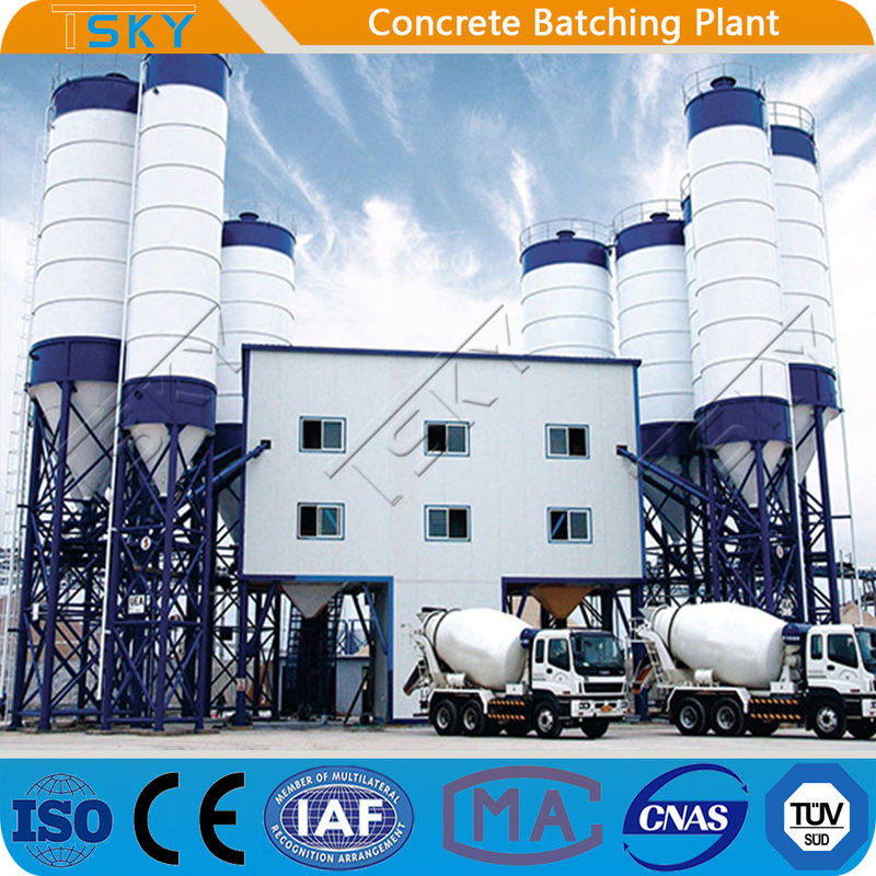 Compact Modular 180m3/h Stationary Batching Plant