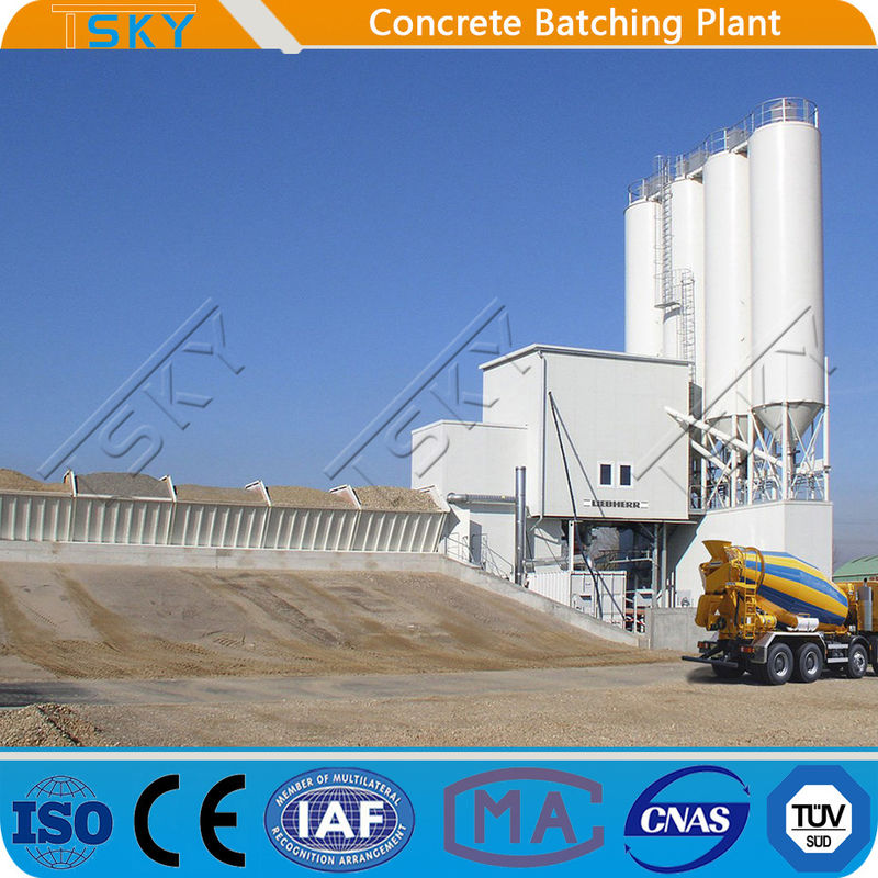 Horizontal HZS180 Concrete Batching Mixing Plant
