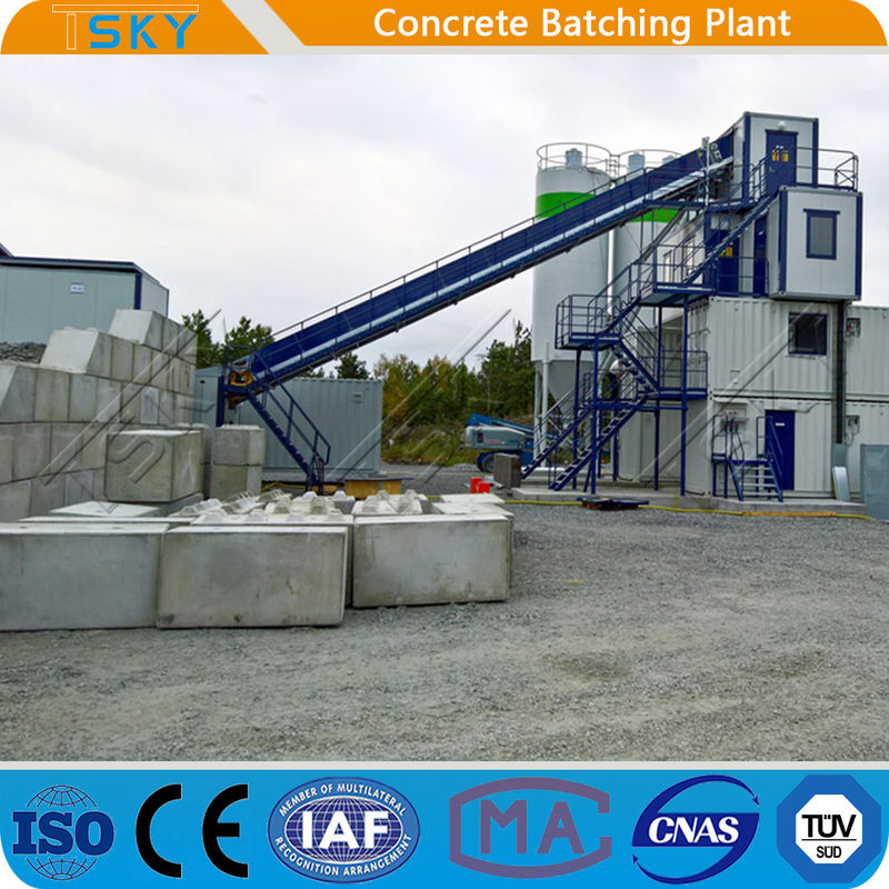 PLD4800 Aggregate Batcher HZS180 Concrete Batch Mix Plant