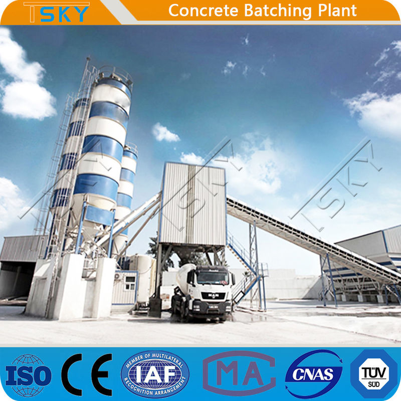 Wet Continuous HZS120 Stationary Concrete Batching Plant