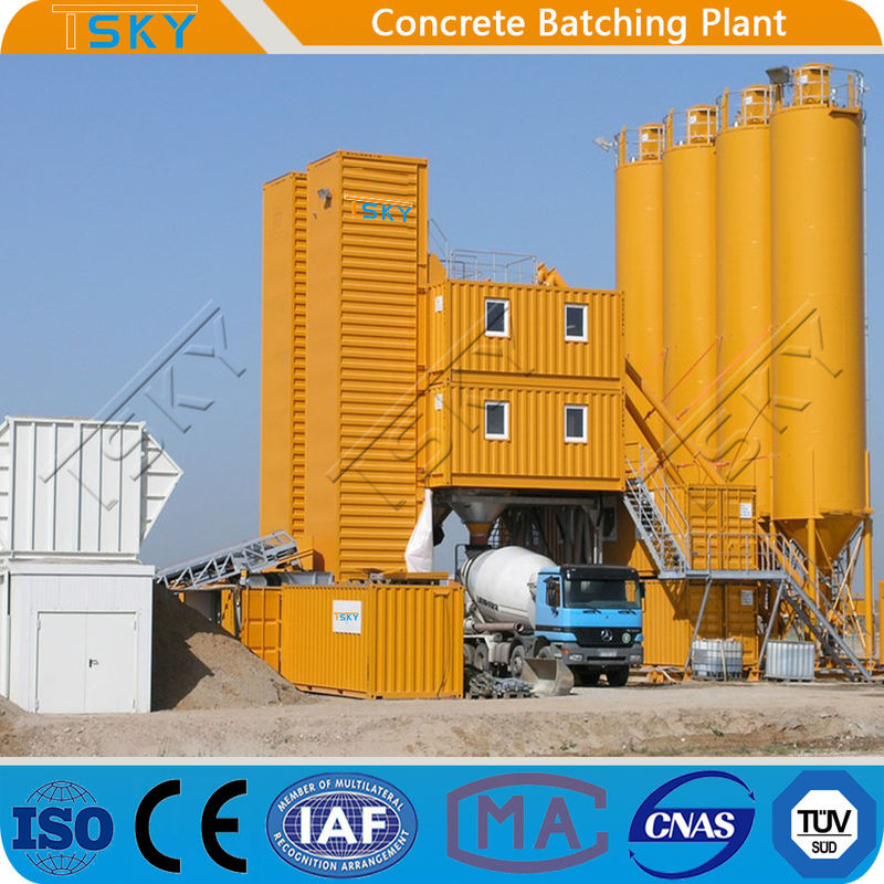 Small Size HZS120 Mobile Concrete Batching Plant
