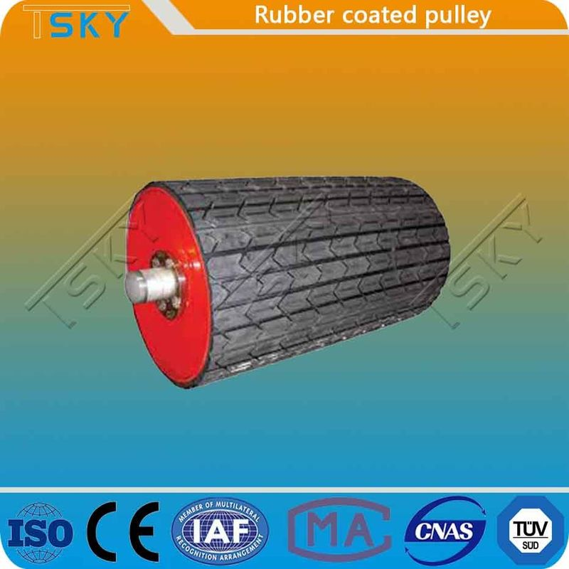 Coal Mining Rubber Coated 25mm Conveyor Drum Pulley