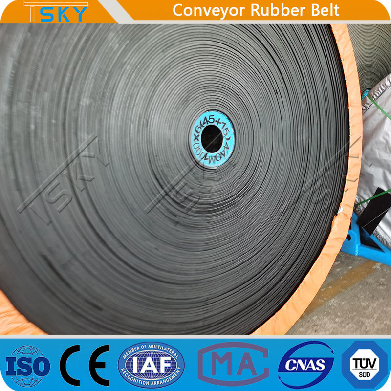 EP315/3 Cotton Canvas Rubber Conveyor Belt For Bulk Material Conveying