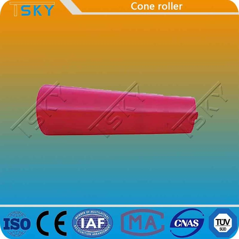 Red Cone Shape Self Lubrication Conveyor Idler Roller