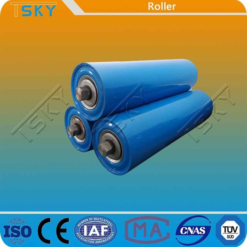 Blue Customized Size DIN Conveyor Idler Roller