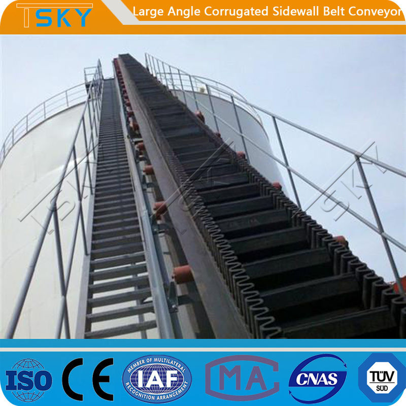 SGS Large Angle 2.5m/s B1000 Rubber Belt Conveyor