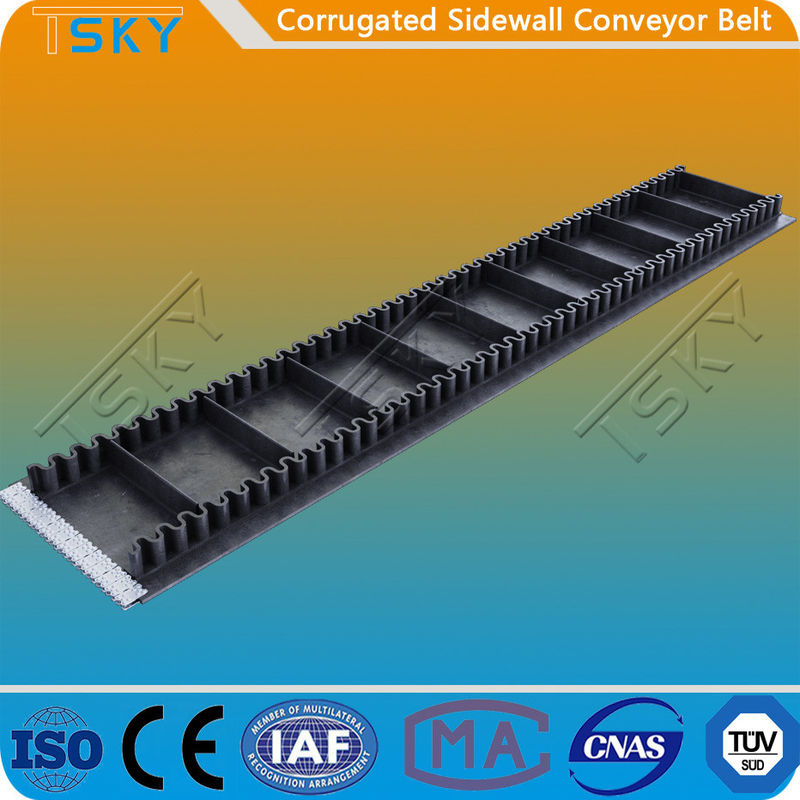 Corrugated Sidewall B1200 1200mm Conveyor Rubber Belt
