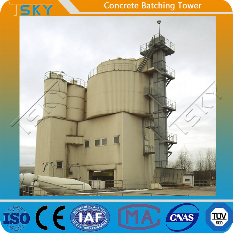 Low Energy Consumption HL180 Tower Batching Plant