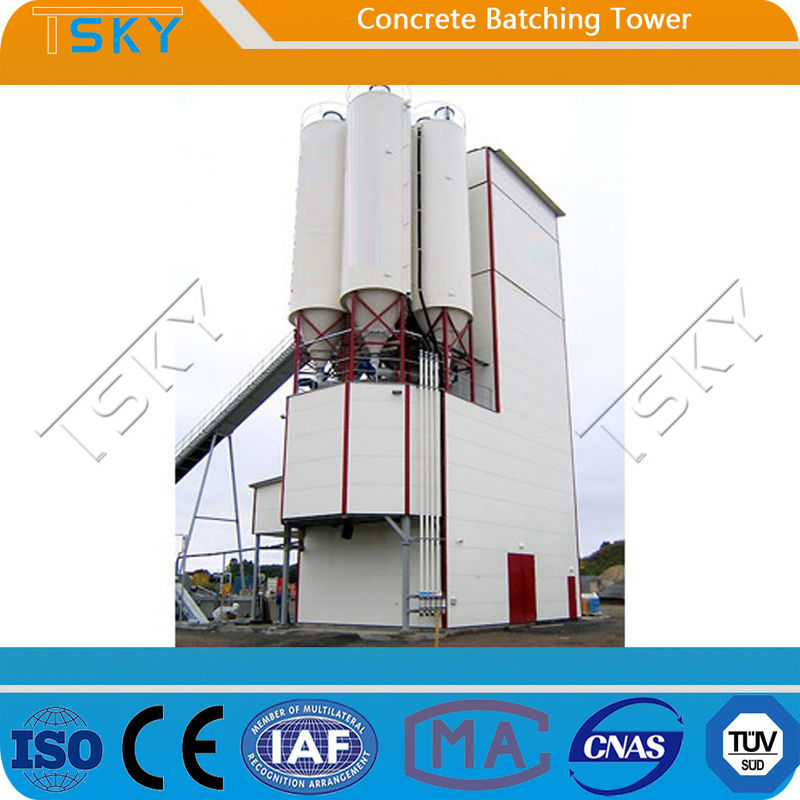 Tower Type Eco Friendly HL120 Concrete Batching Equipment