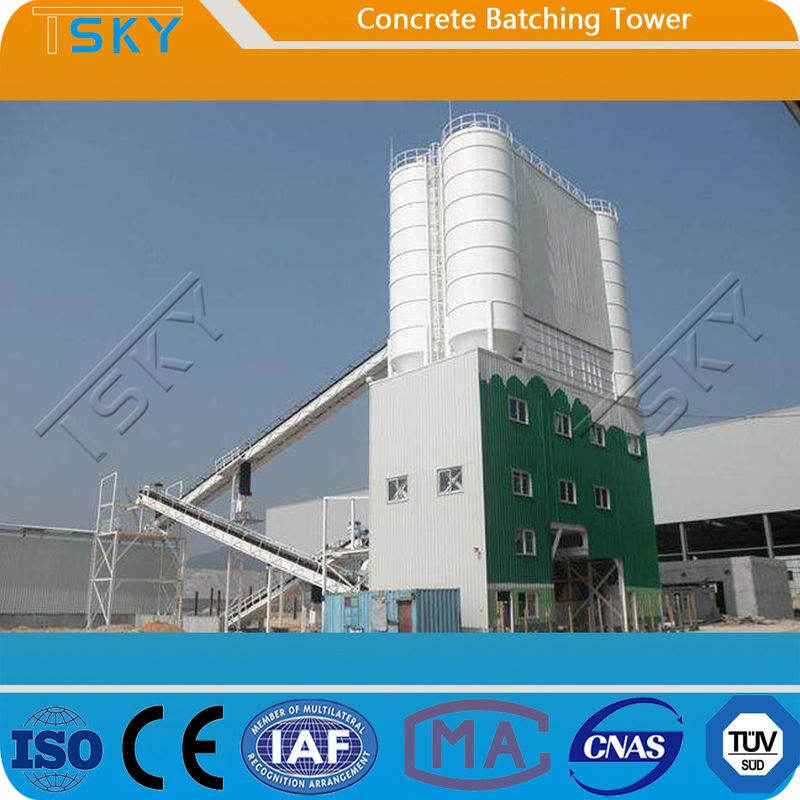Environment Friendly Tower Type HL90 Concrete Batching Plant
