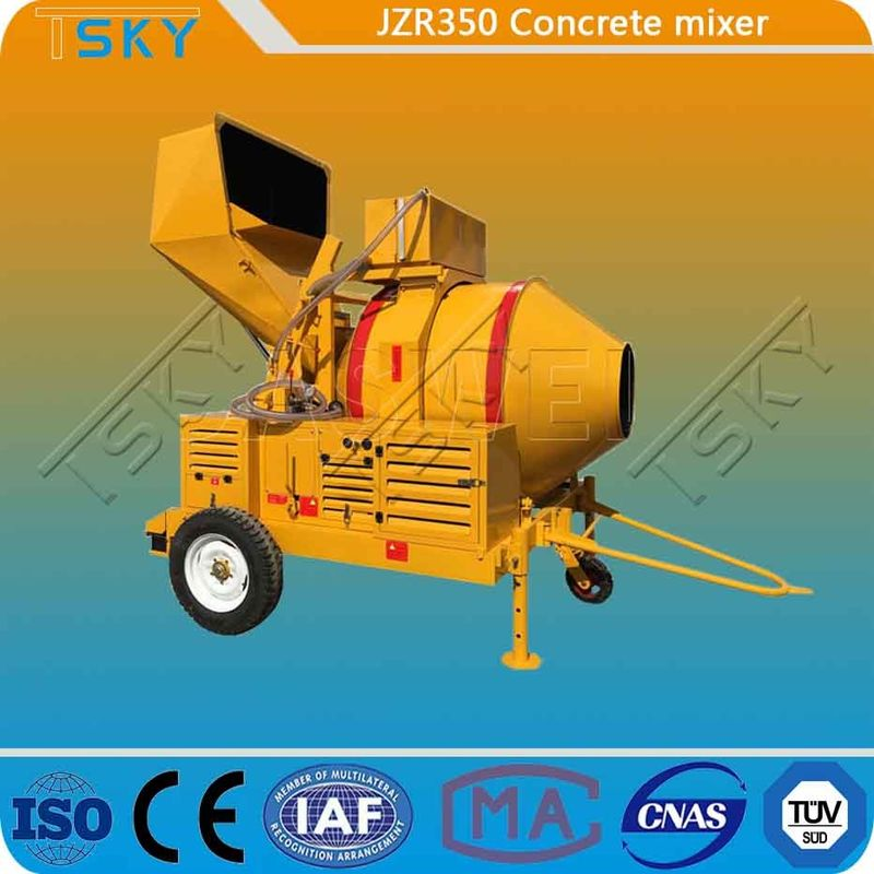 Water Cooling JZR 350 Diesel Electric Concrete Mixer