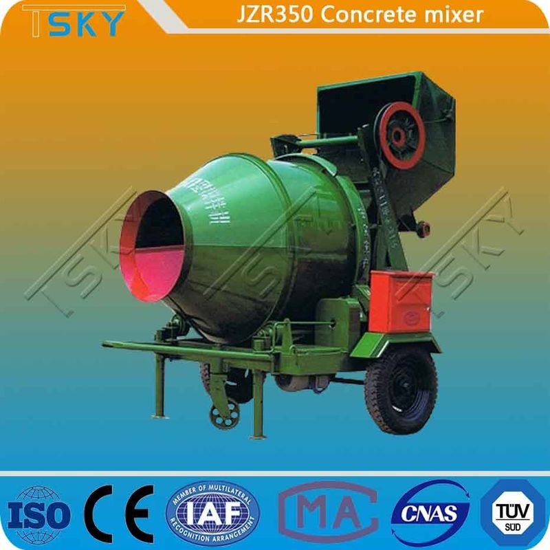 Hydraulic Tipping Type JZR350 Diesel Engine Concrete Mixer